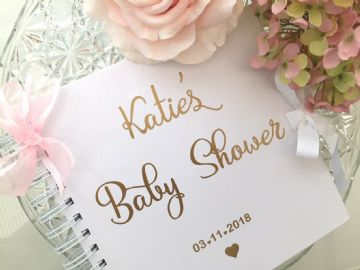 Baby Shower Guest Book Pink